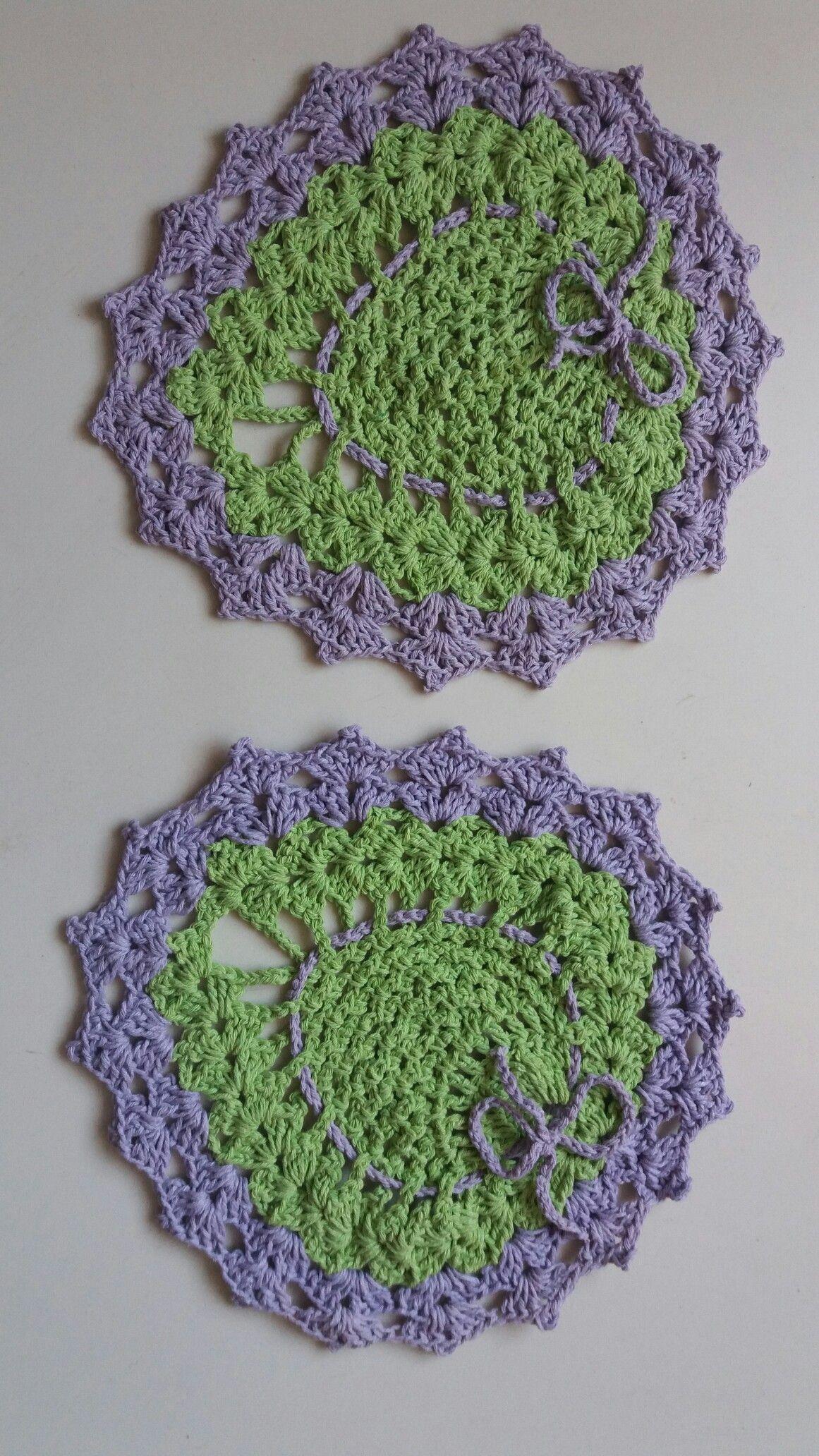 Joguinho de duas peças verde e lilás...thathy conquistas