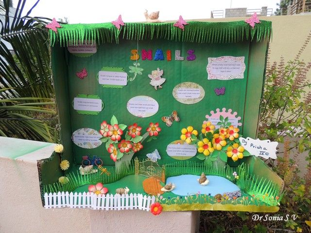 Kids Diorama With Details: Cards ,Crafts ,Kids Projects: Snails Diorama