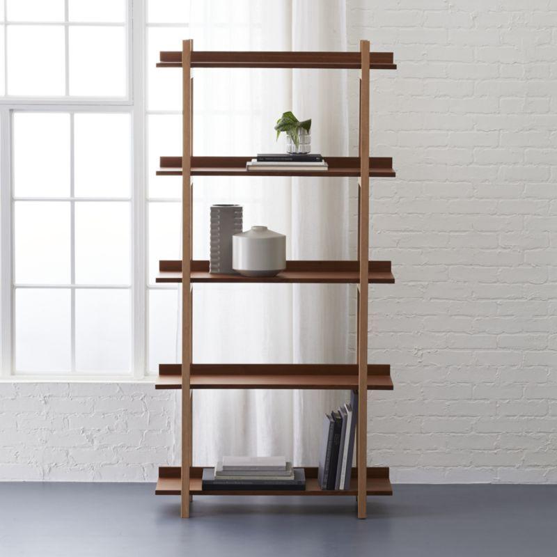 stax bookcase stax bookcase Walnut bookcase