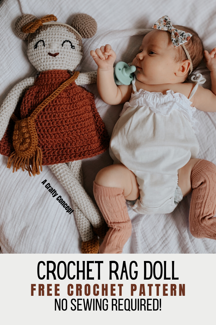 How To Make An Adorable Amigurumi Rag Doll With No Sewing ...