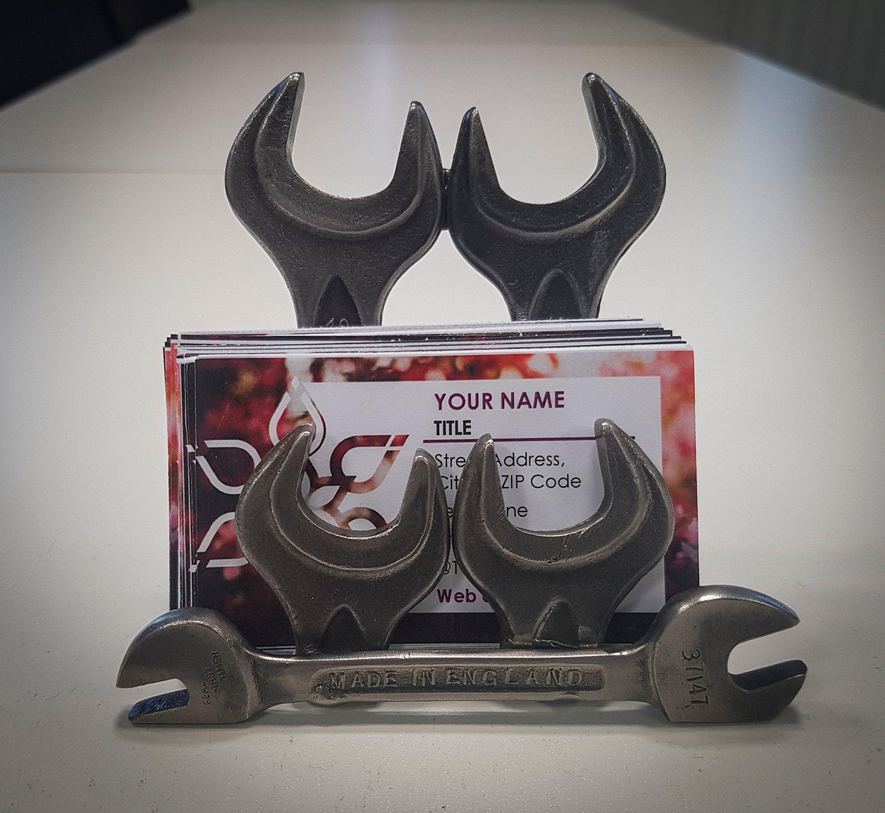 Scrap Metal Handmade Industrial Business Card Holder Made Etsy Welding Projects Scrap Metal Art Business Card Displays