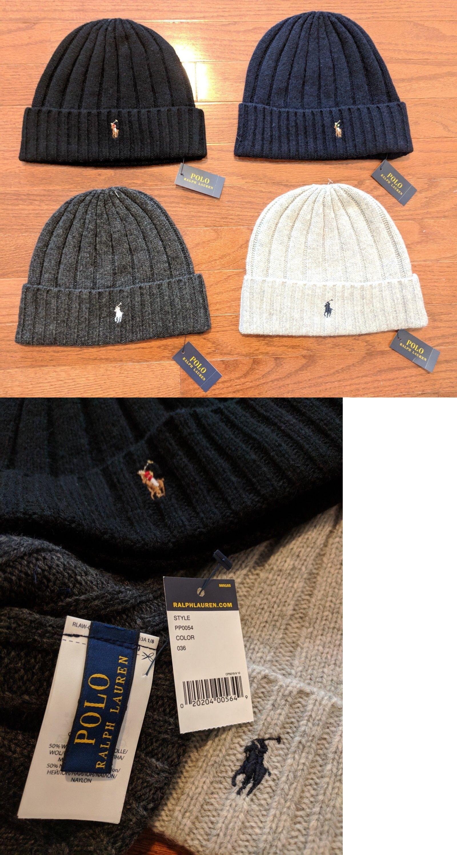 525582eef Hats 52365: Polo Ralph Lauren Winter Cuffed Wool Ribbed Signature ...