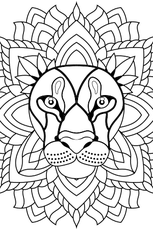 Coloriage Mandala Lion En Ligne Gratuit à Imprimer Mandala