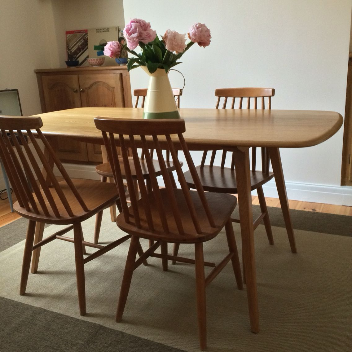 Excellent Restored Ercol Plank Table Before Ercol Style Chairs G Download Free Architecture Designs Licukmadebymaigaardcom