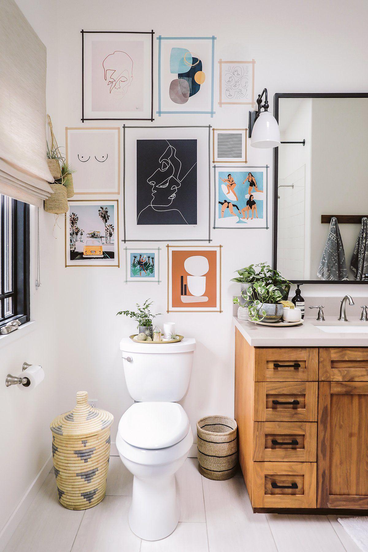 Diy Washi Tape Gallery Wall Small Living Room Decor Bathroom