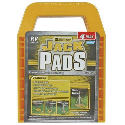 New Camper Parts And Accessories Stabilizer Jack Pads Rv Leveling Pads 4 Pk Camper Parts Rv Parts Pad