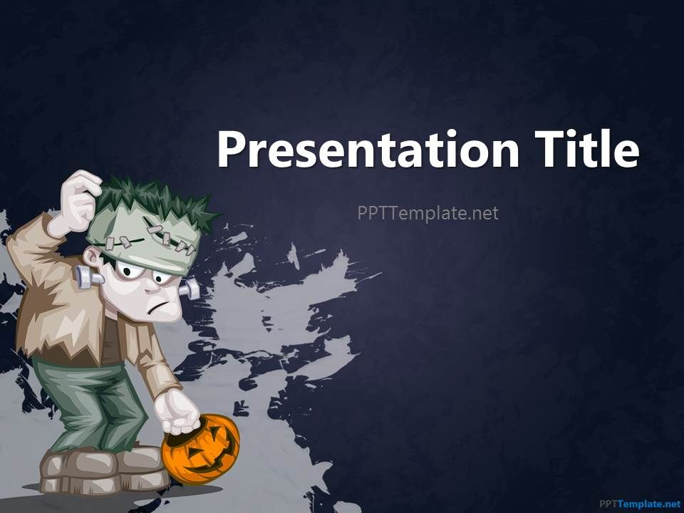 free halloween frankenstein ppt template | halloween | pinterest, Modern powerpoint