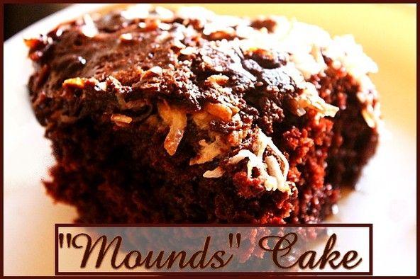"""Mounds"" Cake http://www.momspantrykitchen.com/mounds-cake.html"
