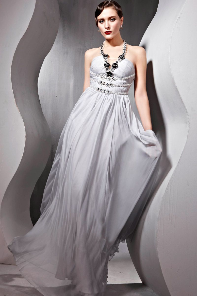 Grey Evening Dresses On Clearance