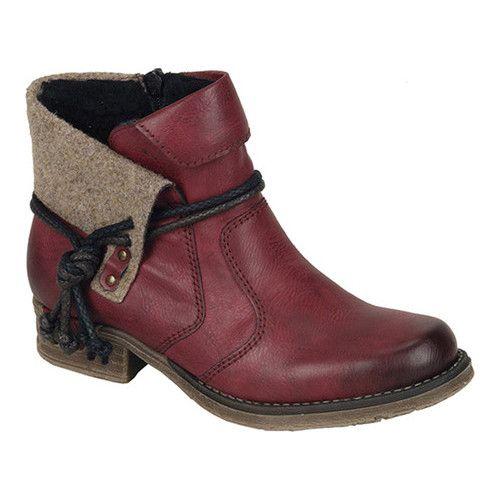 Women's Rieker Antistress Fee 93 Ankle Boot WineWood