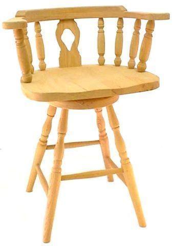 Amish Wheel Fiddleback Captain S Barstool Counter Height