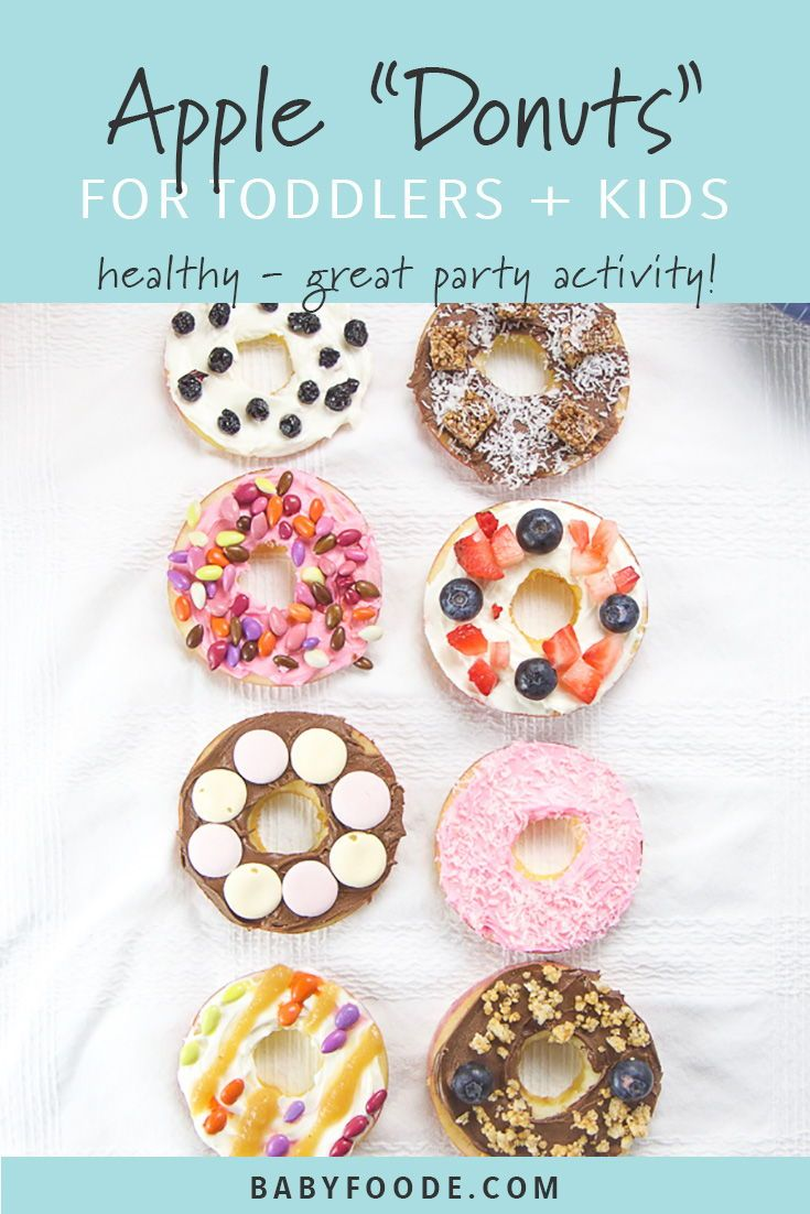 DIY Toddler Apple Donut Party images