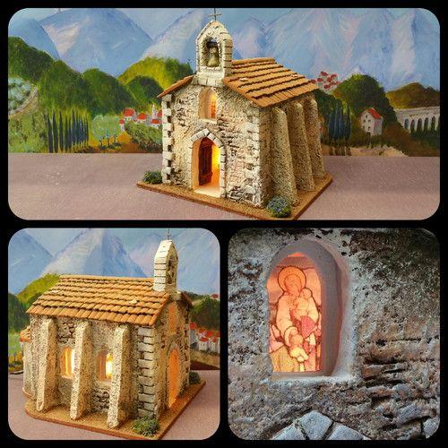 Santons atelier de fanny santons et cr ches de no l santons de provence eglise eur - Modele de creche de noel ...