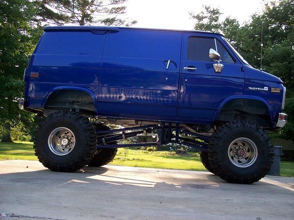 4 Wheel Drive Vans >> Lifted 4x4 Chevy Van I Like What I See Tough Enough Trucks
