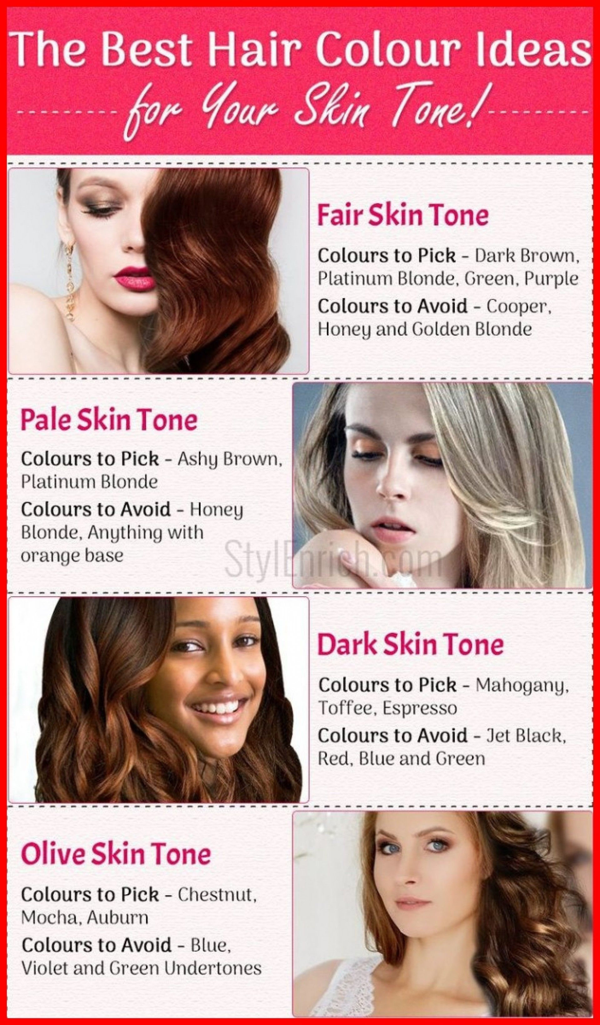 Best Hair Color For Olive Skin