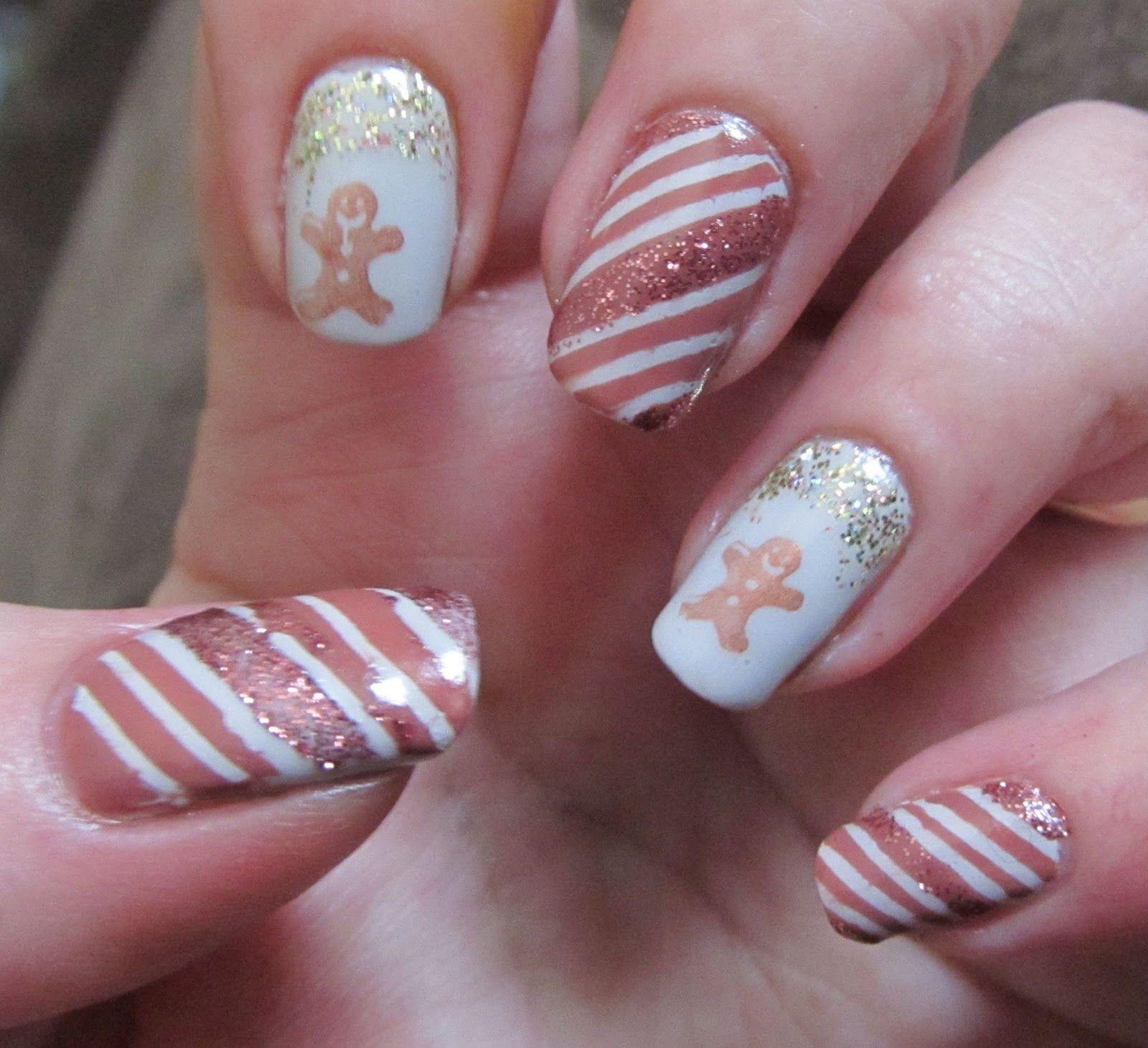 Candy canes and gingerbread men christmas #nail #nails #nailart ...