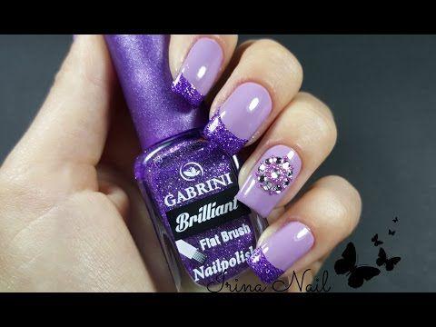 💅 French purple nails   Irina Nail - YouTube