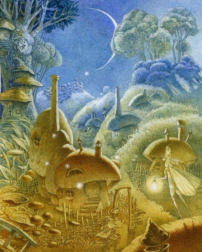Elves illustrated by Olga Popugaeva and Dmitry Nepomnyastchy