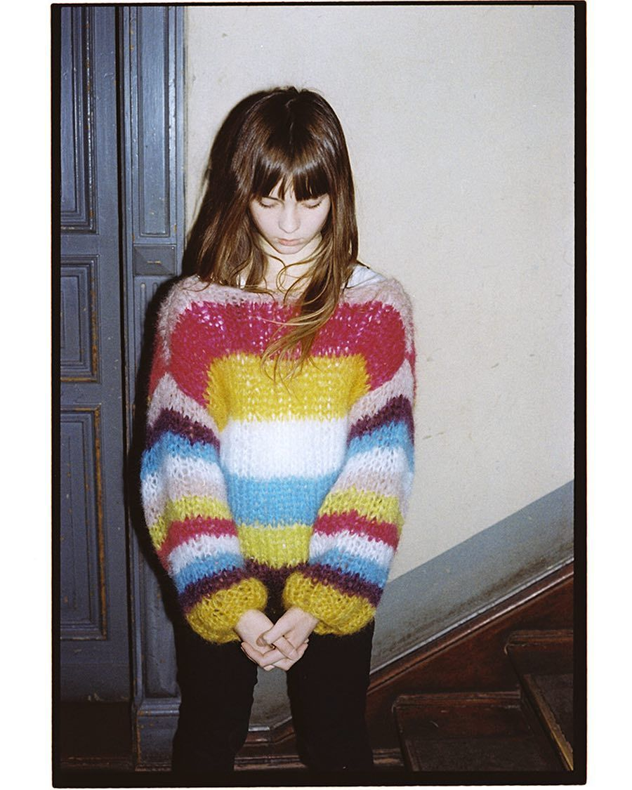 striped mohair handknitted sweather by Patkas