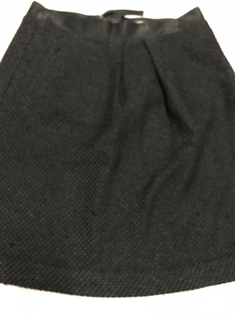 0d7d5a5432 Club Monaco Black Tweed Exposed Zipper A-Line #Skirt Size 4 #ClubMonaco  #ALine #career