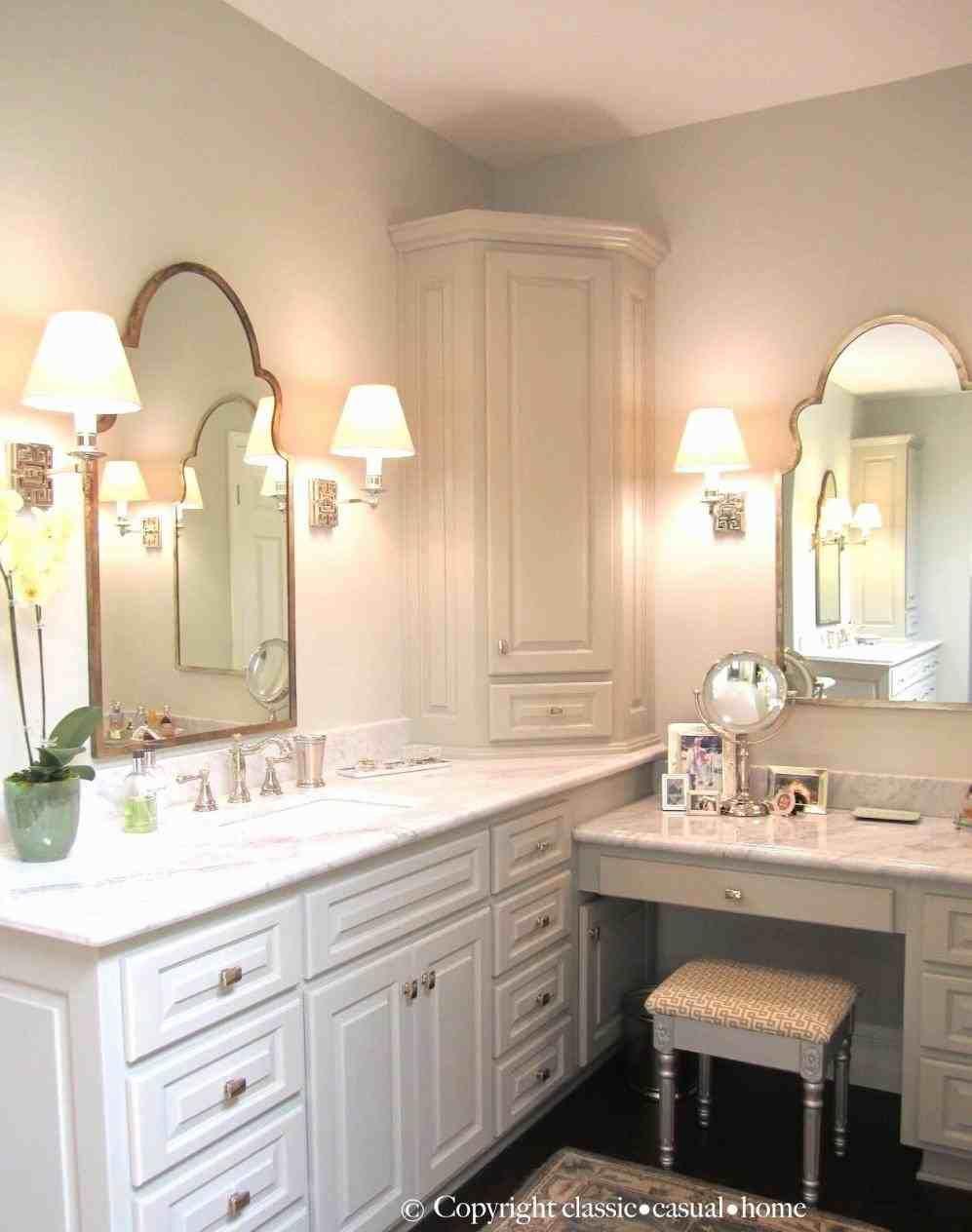 Bathroom With Makeup Vanity