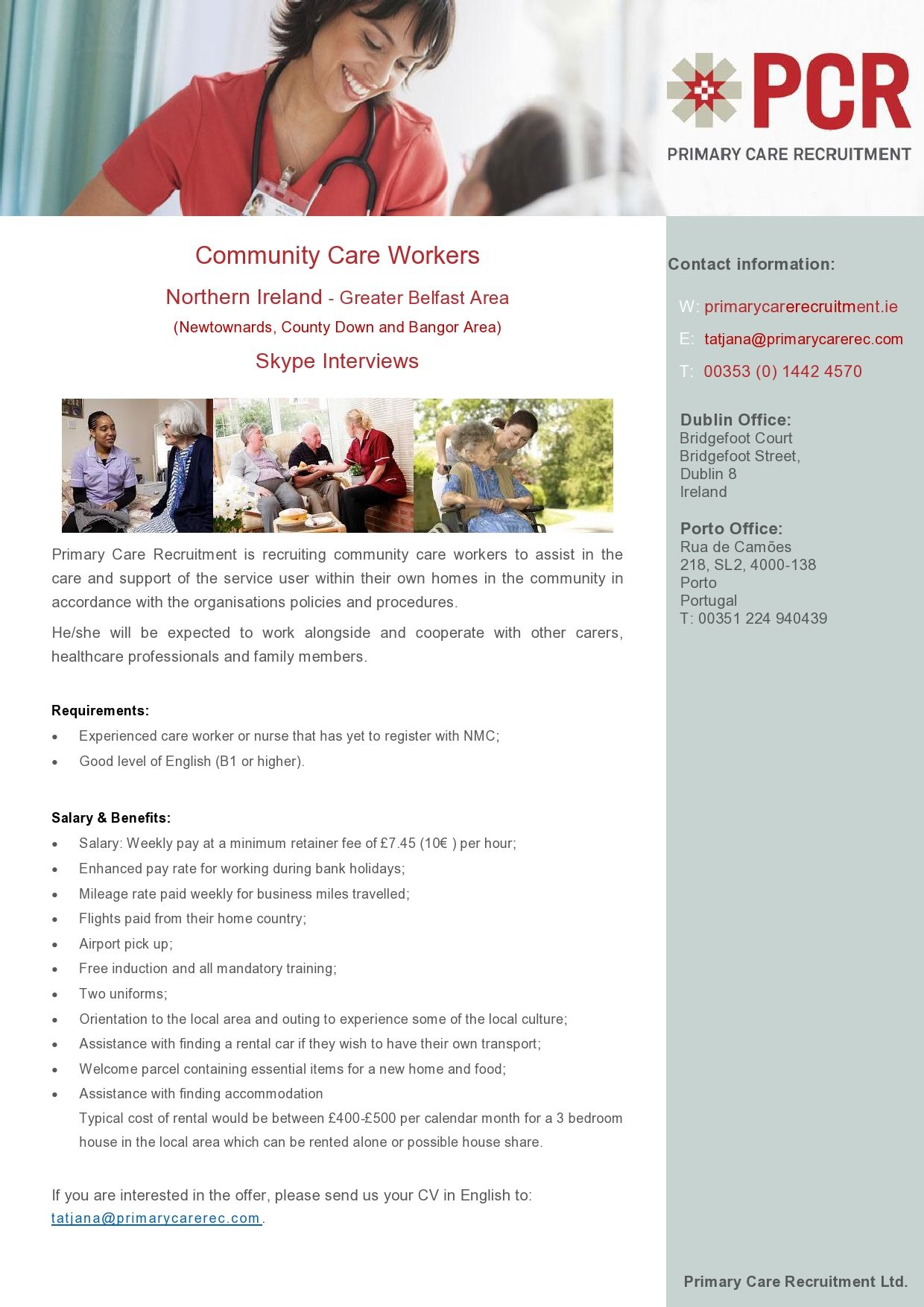 Community care workers northern ireland greater belfast