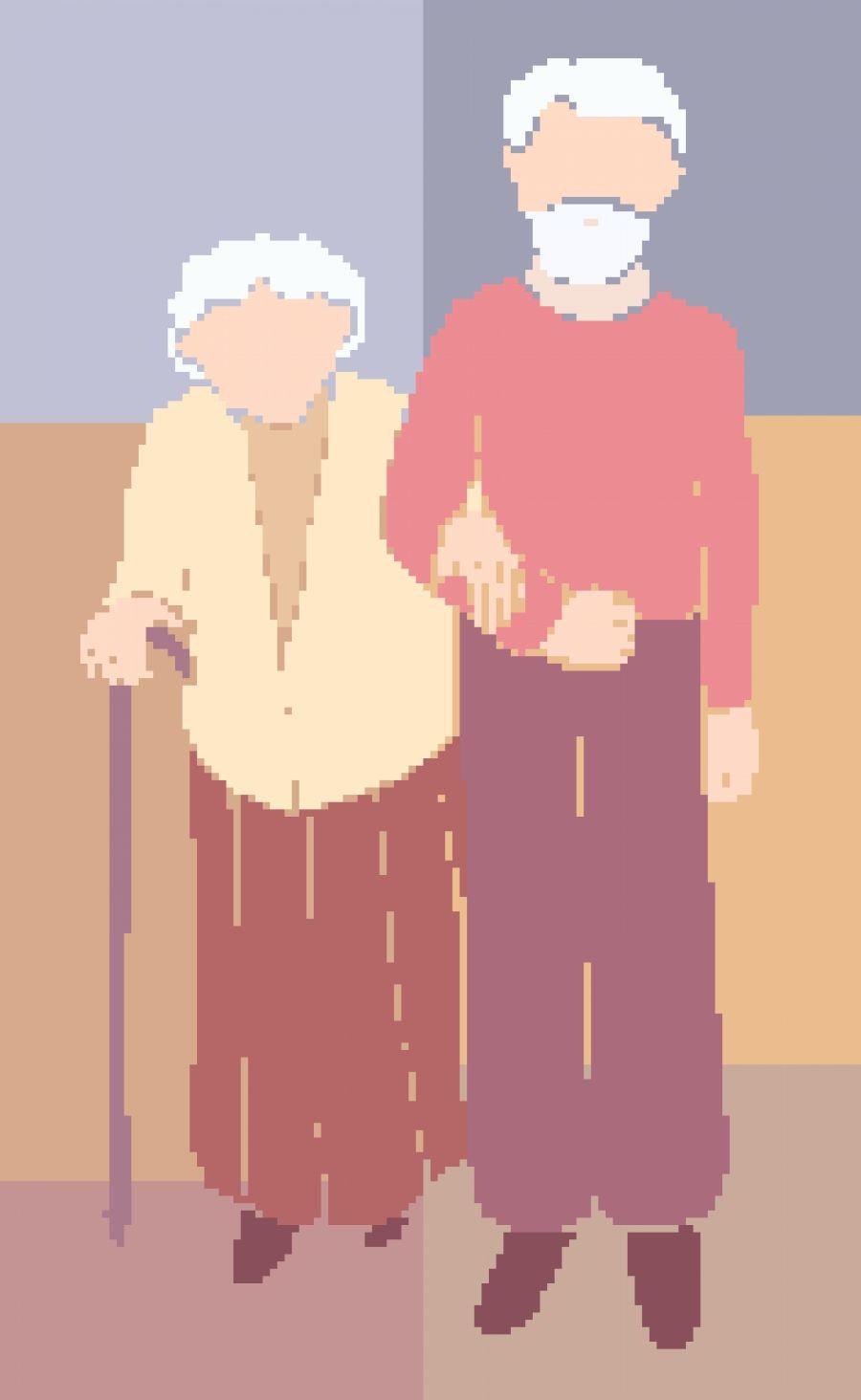 Los dos abuelos Manos encallecidas Arrugas pronunciadas Espaldas hoy dobladas Ojos ya apagados Con miradas entristecidas Y pasos ya cansados...