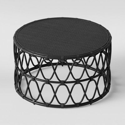 Swell Opalhouse Jewel Round Coffee Side Table Set Black Machost Co Dining Chair Design Ideas Machostcouk