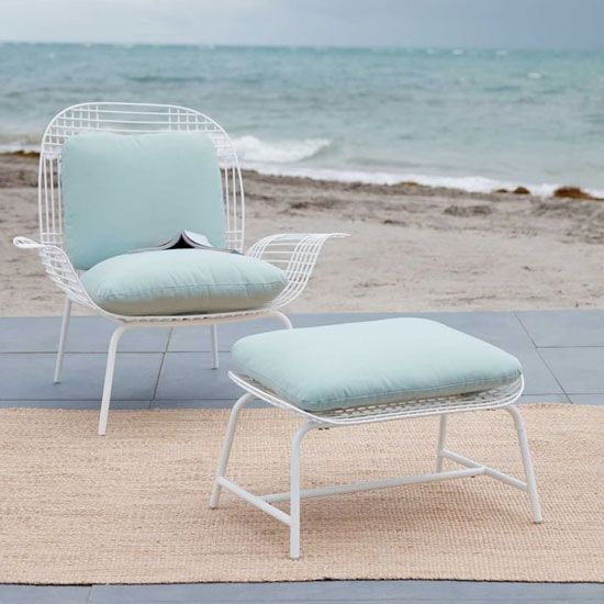 Tremendous Midcentury Style Palm Outdoor Lounge Chair At West Elm Squirreltailoven Fun Painted Chair Ideas Images Squirreltailovenorg