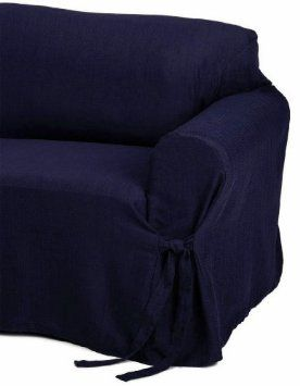 Amazon Com Jacquard Fabric Solid Navy Blue Couch Sofa Cover Slipcover Furniture Decor Navy Blue Couches Navy Blue Loveseat Loveseat Covers