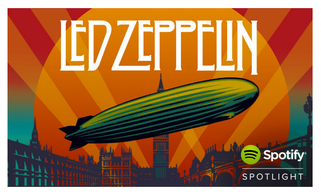 Hello Led Zeppelin The World S Greatest Rock And Roll Band Is Now Streaming On Spotify Musica Shows
