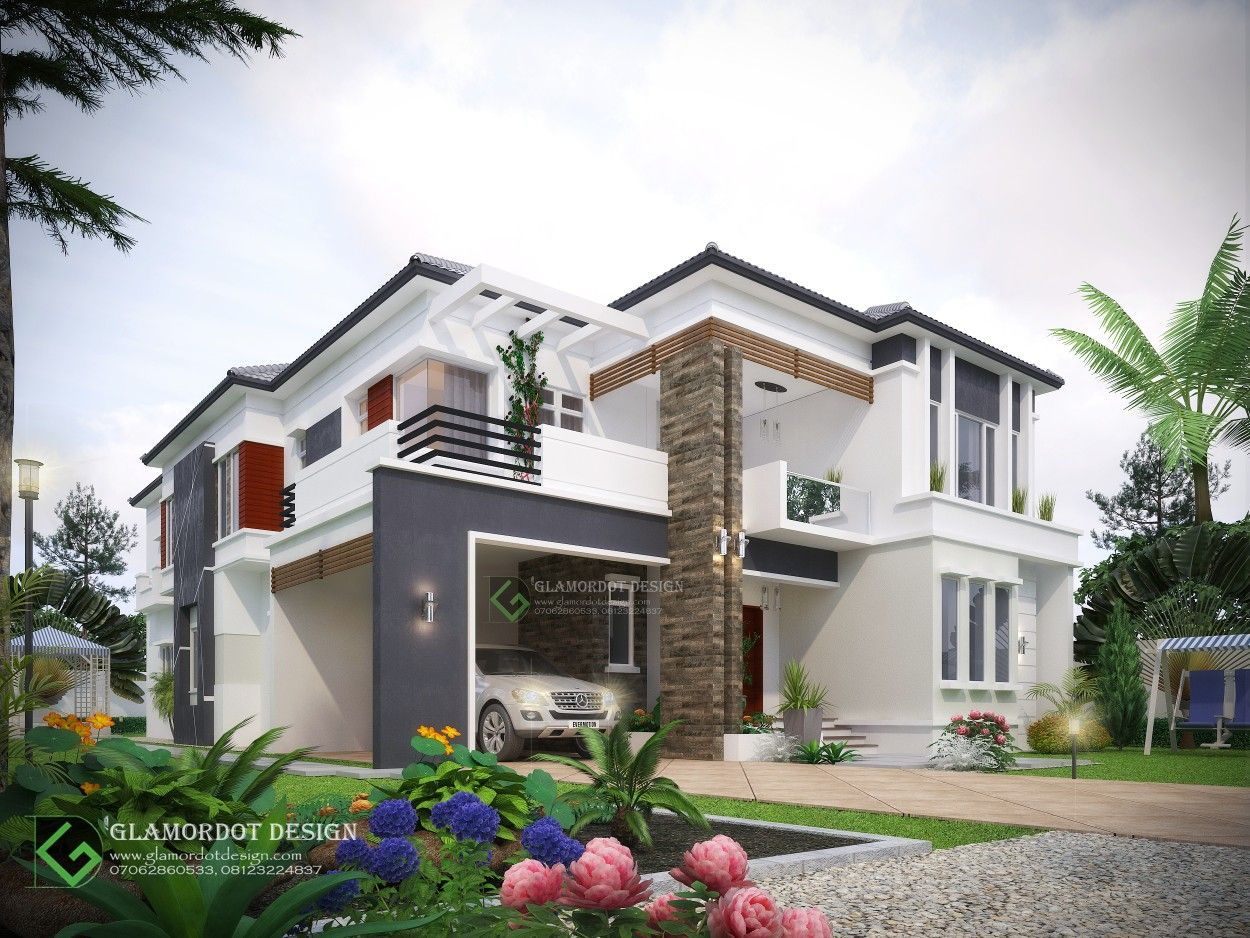 Contemporary By 5 Bedroom Duplex Bungalow House Floor Plans House Styles Duplex House Design