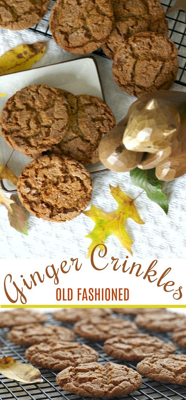Baking Ginger Crinkles Cookies Crinkle cookies recipe