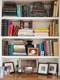 tips for arranging organizing bookshelves books bookshelves rh pinterest com deep bookshelves uk deep floating bookshelves