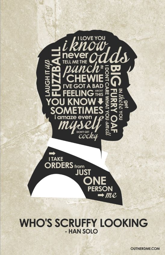 Han Solo Inspired Quote Poster By Outnerdmedeviantartcom On