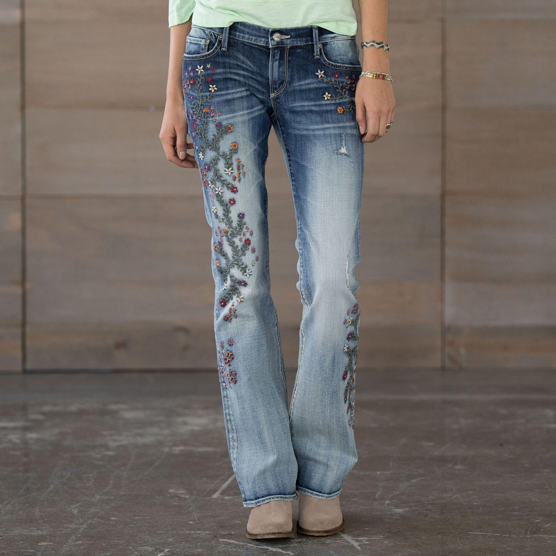 Kelly strawberry blossom jeans meandering floral embroidery kelly strawberry blossom jeans meandering floral embroidery and a hint of figure ccuart Gallery