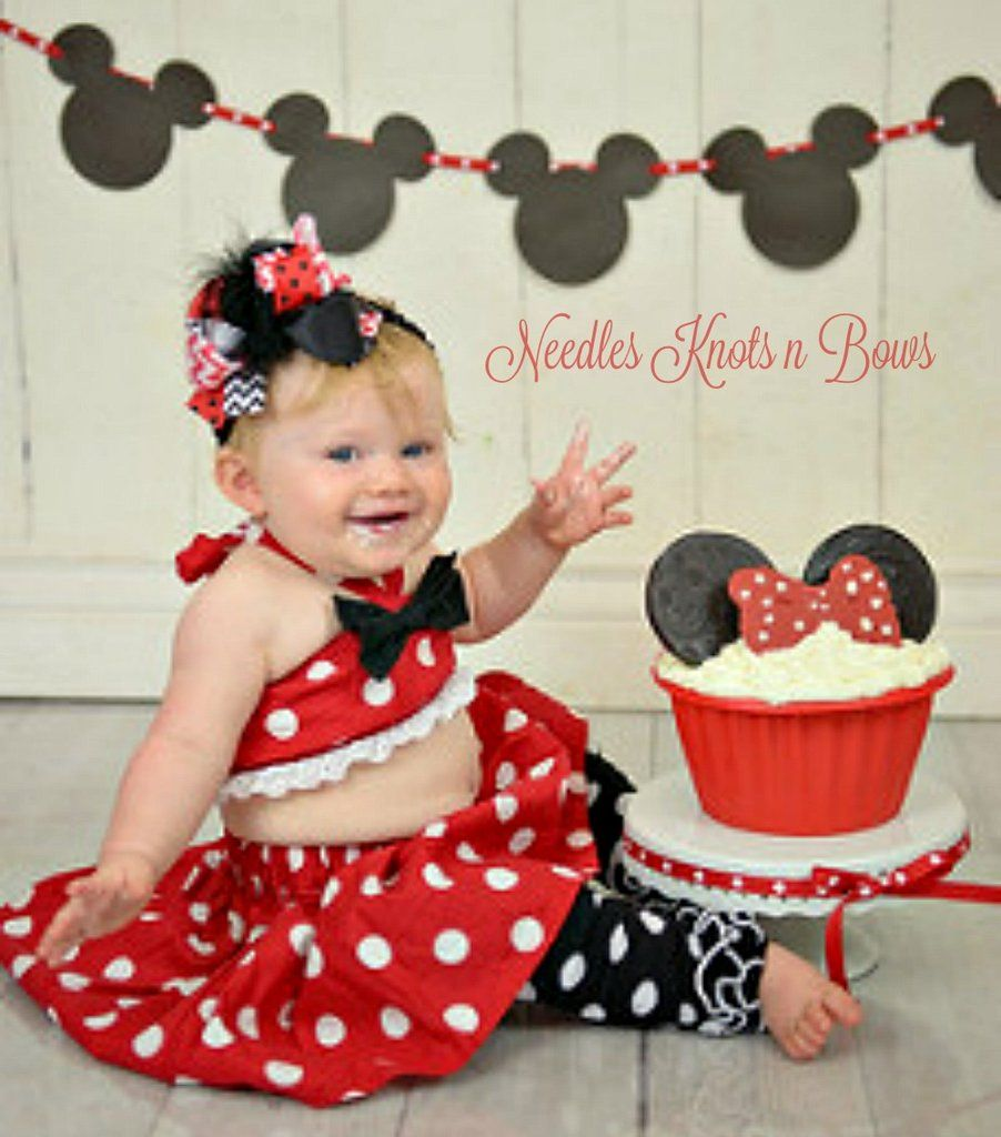 Baby Girl 1st Birthday Dress Cake Smash Red Photoshoot Outfit Tutu Minnie Mouse Girls Outfits Sets Newborn 5t Clothing Shoes Accessories Thelendingtree Ae