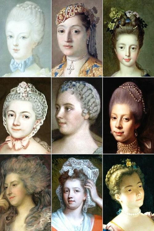 18th Century Woman's Hairstyles 04 1780 Pinterest