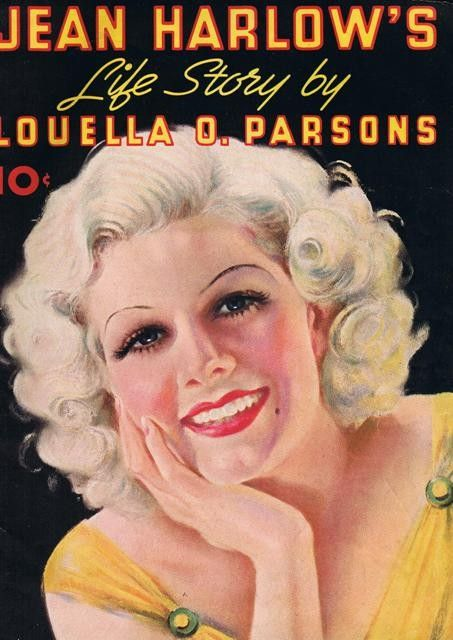 1937 Jean Harlow's Life Story Magazine Color Copy.