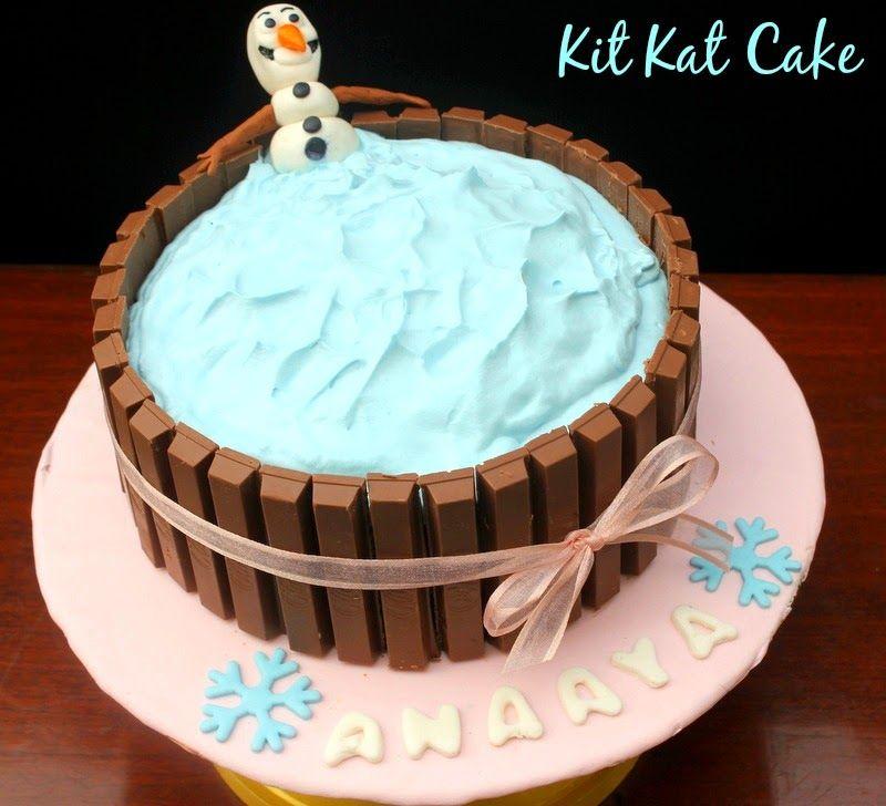 Ribbons to Pastas Kit Kat Cake Olaf Frozen Theme Egg less