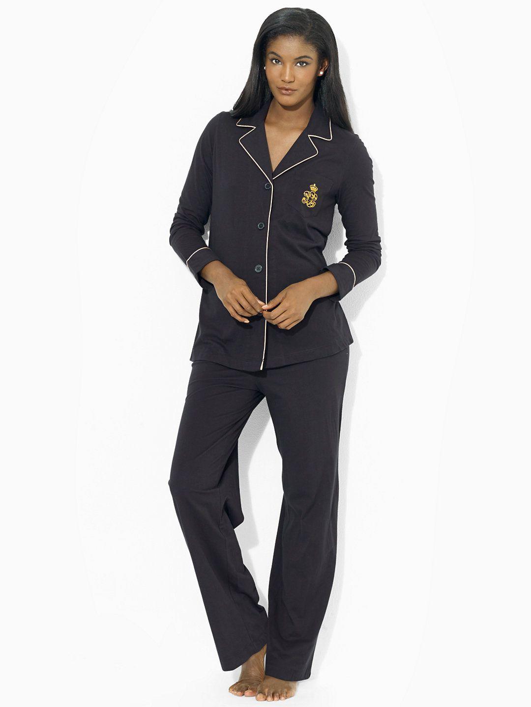 b09dc2336e Cotton Jersey Pajama Set - Sleepwear   Robes Women - RalphLauren.com ...