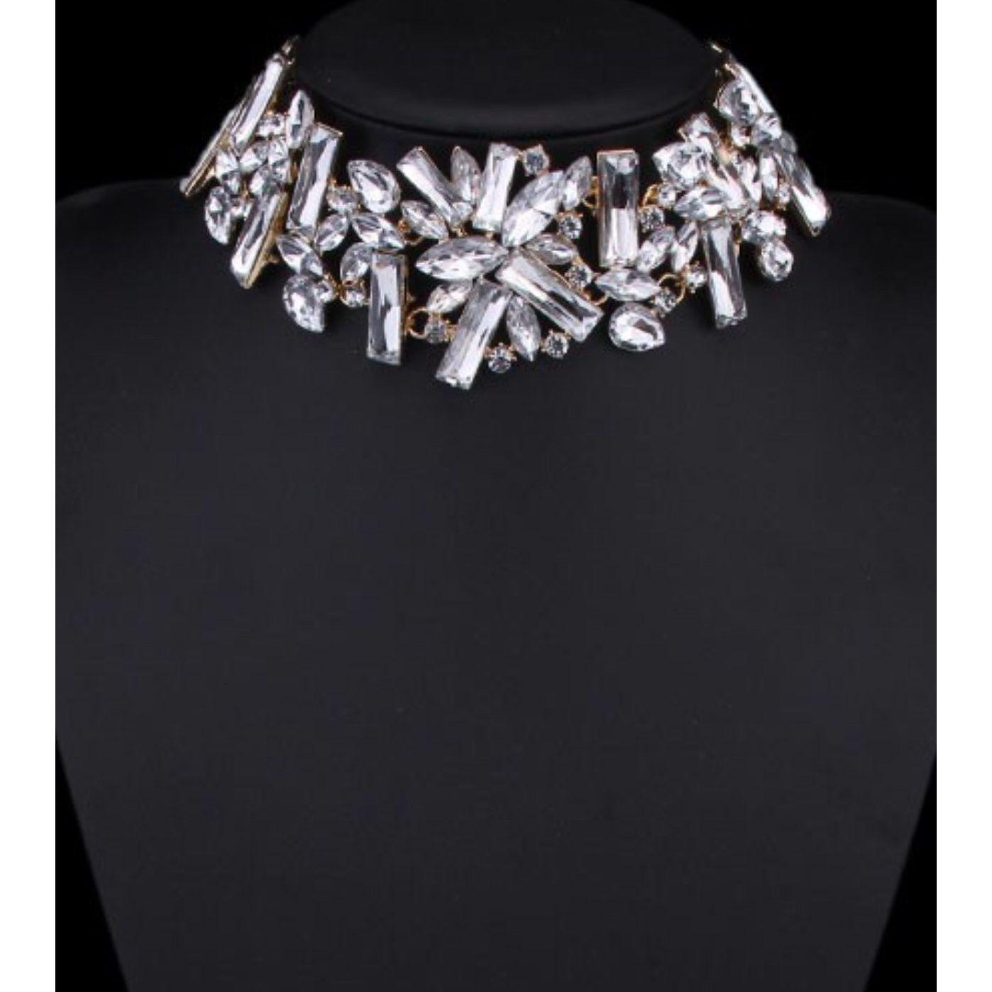 Jeweled Rhinestone Collar Necklace
