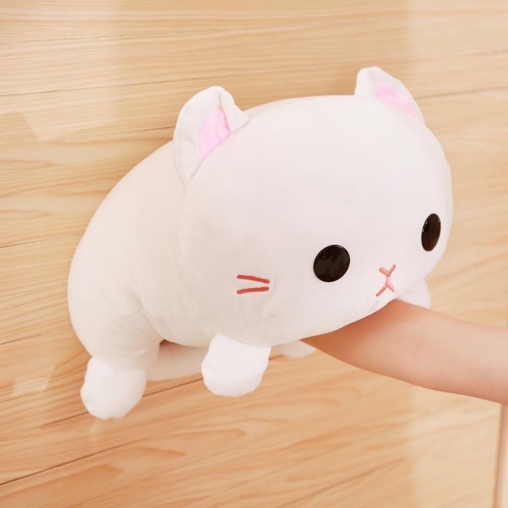 Giant Shark Plush, Cute Snowball Kitty Plush Cat Pillow Cat Plush Toy Cat Plush