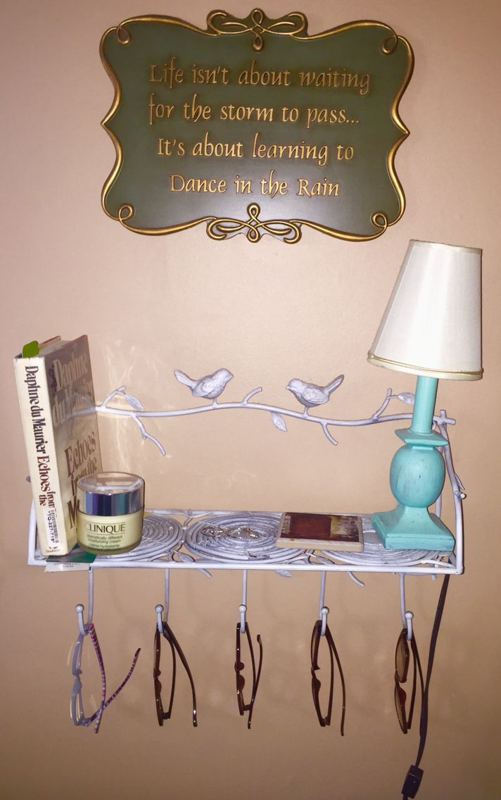 My Sistersu0027s Bedside Table. Hangs On The Wall. Has A Shelf For A Small