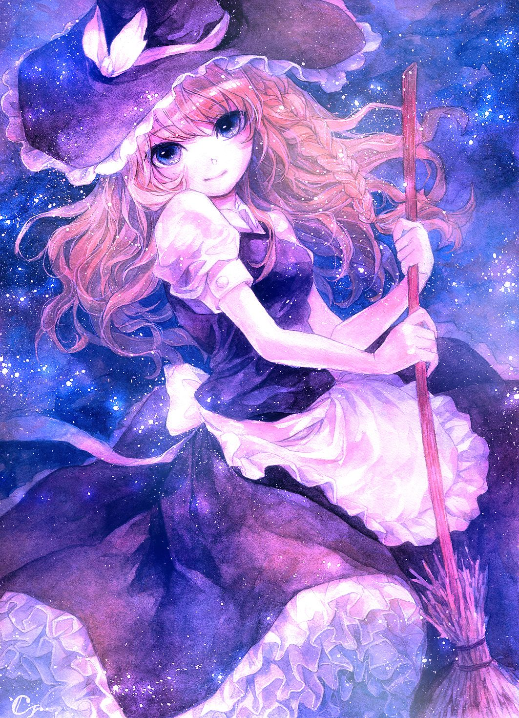 Marissa in Space. Touhou(画像あり) 魔理沙 イラスト, イラスト