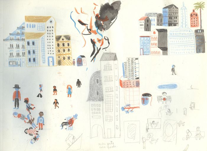 Development work by Violeta Lópiz – from 'Amigos Do Peito / Close Friends' (written by Cláudio Thebas)