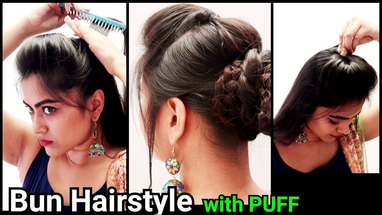 ethnic bun with puff hairstyle//indian festive hairstyles