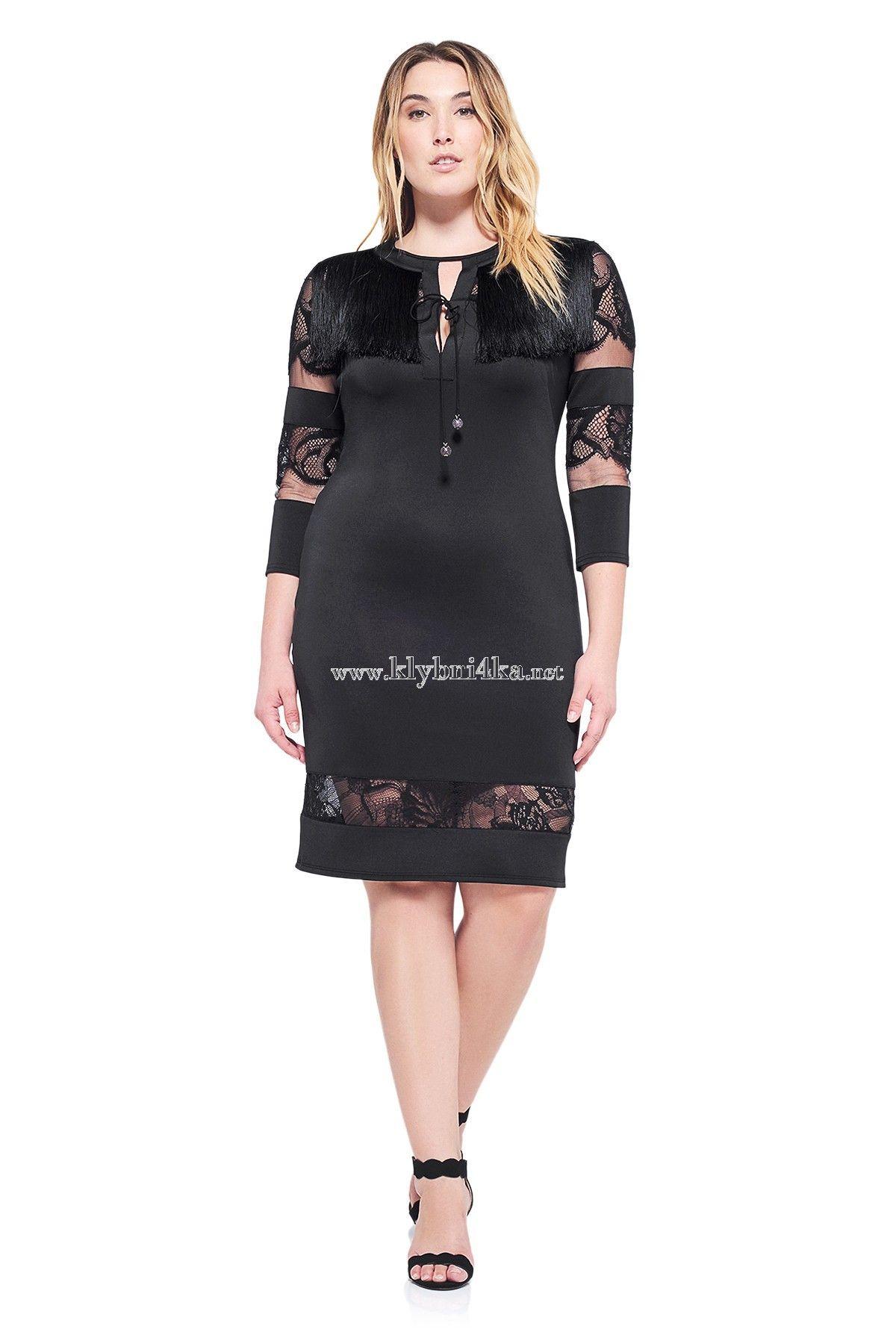 Маленькое черное кружевное платье  #платьяplussize #платьядляполных #пикантныйразмер
