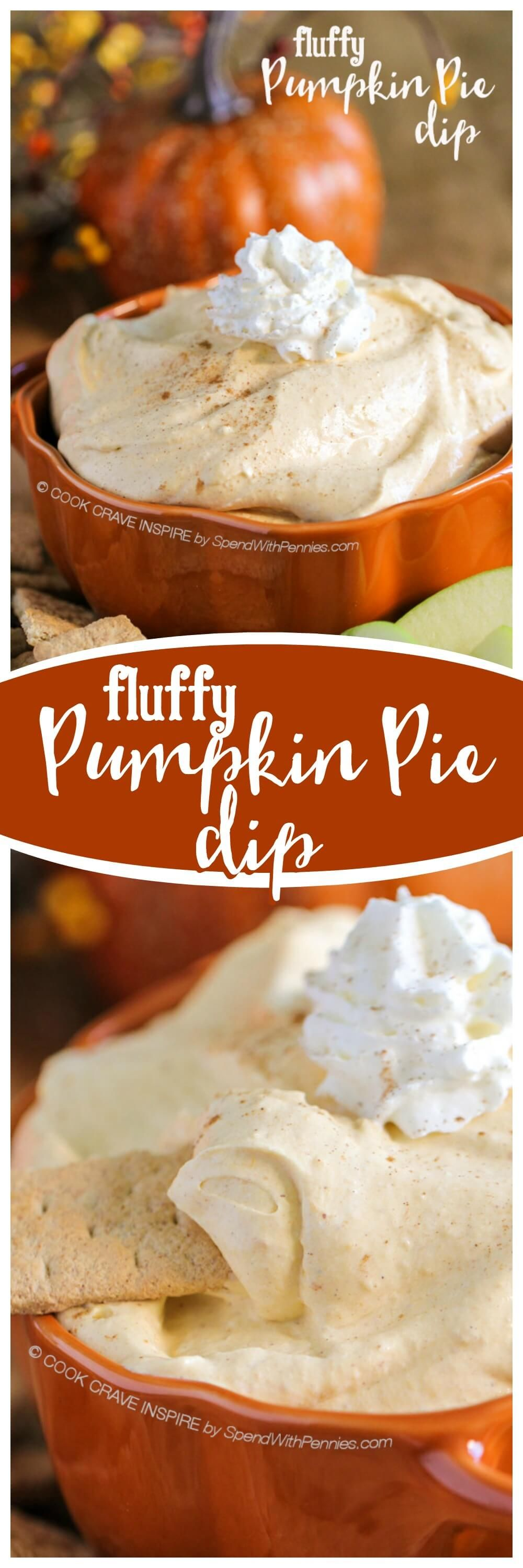 Pumpkin Dip {Fluffy Fruit Dip} - Spend with Pennies