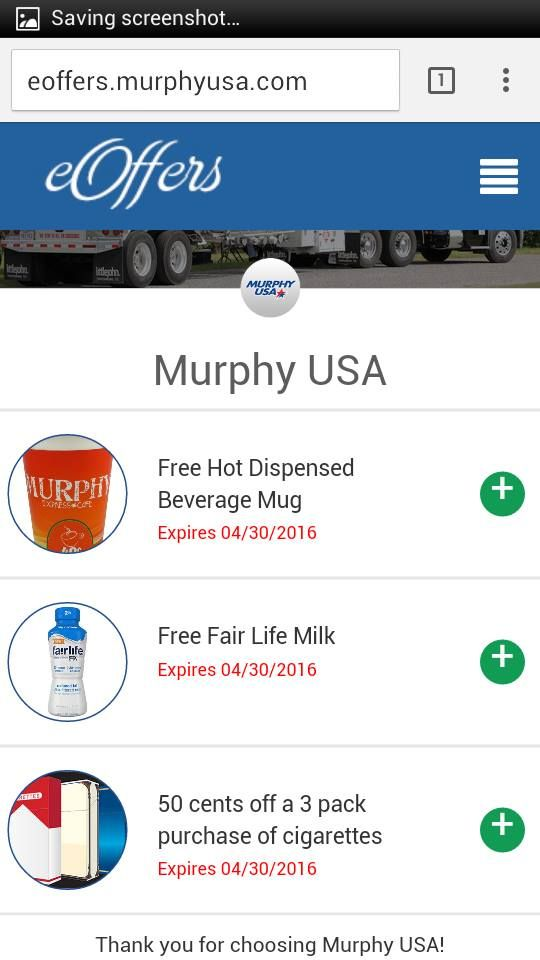 FREE Offers From Murphy USA (thanks Tiffany) http://www.freebiequeen13.net/free-samples.html